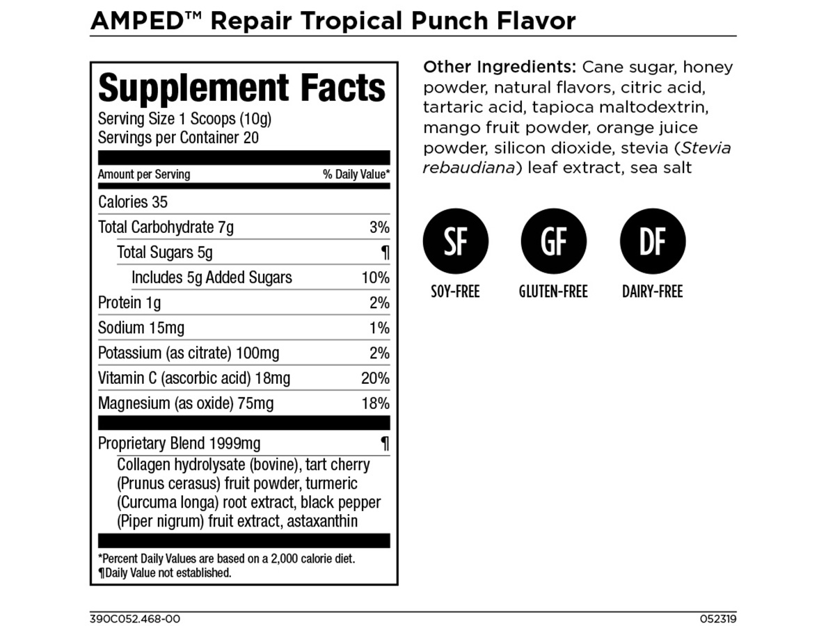 AMPED Repair - Post Workout Muscle and