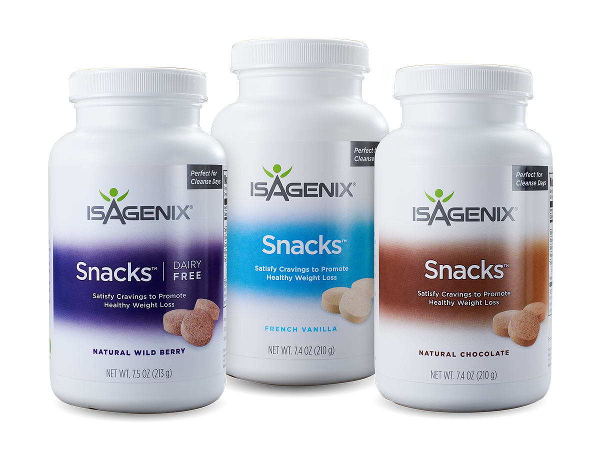 cleanse day snacks - isagenix snacks